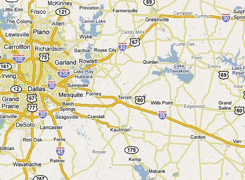Grand Saline Texas is in the free mobile service area for windshield repair and replacement from Auto Glass by Jerry in Rockwall, Texas.