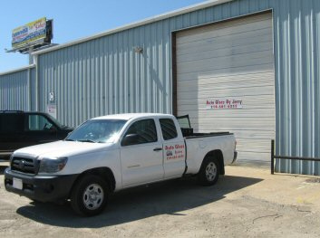 Photo of truck and shop for Auto Glass by Jerry in Rockwall, Texas